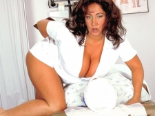 Nurse Bigger than average Tits