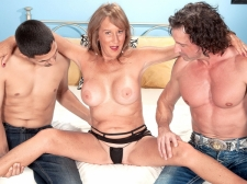 Trisha acquires ass-fucked by 2 boyz and swallows