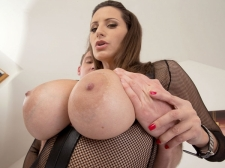 A Spunk Injection For A 34DDD Brunette