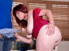 Heather's Ass Meets Inflexible Cock
