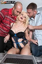 Nurse Cammille acquires ass-fucked by two guys