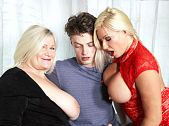 Two British MILFs and a young cock
